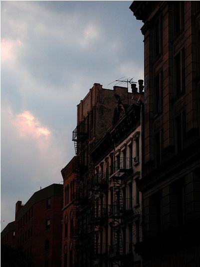 Bowery Sunset July 25, 2008