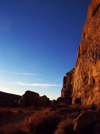 Sunset at Chaco Culture Ruins November 16, 2007