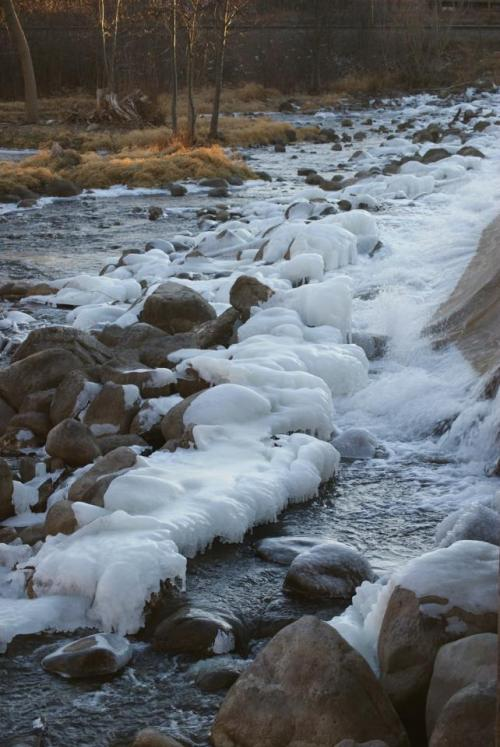 winter ice and water
