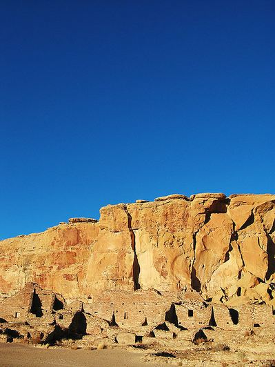 Overview of Chaco Canyon Ruins November 16, 2007