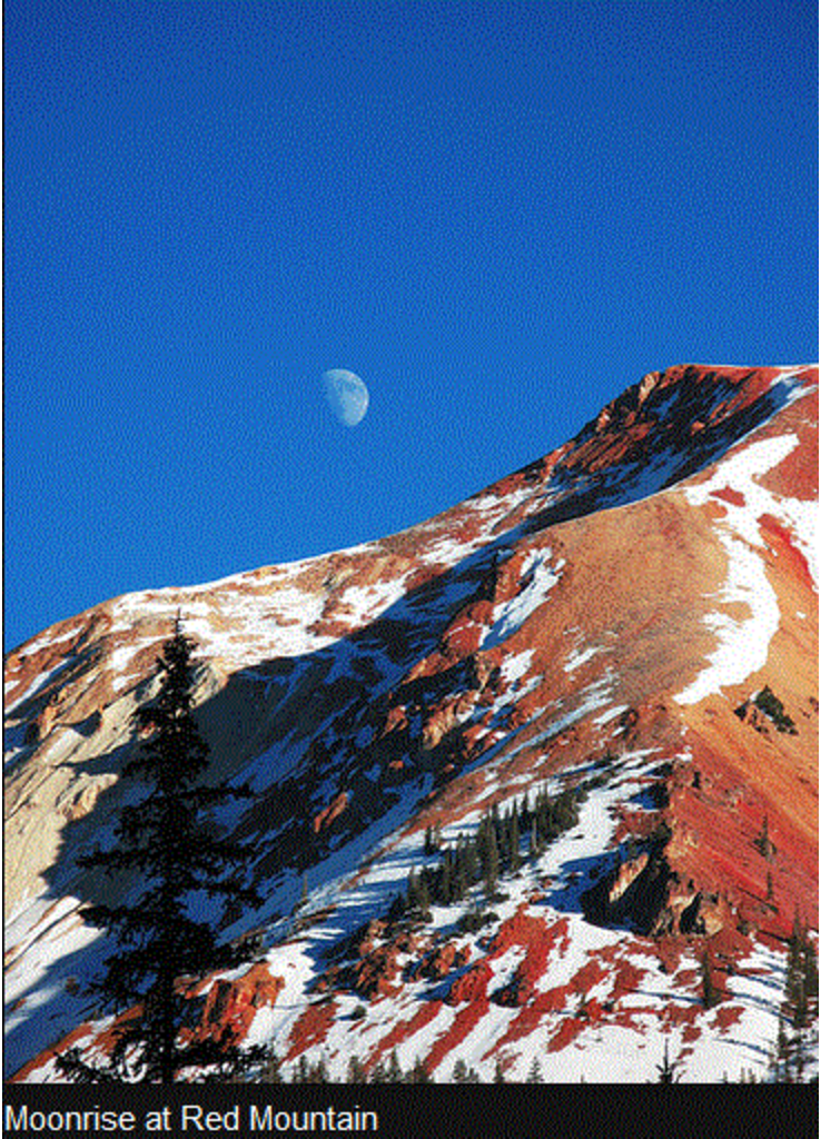 Moonrise at Red Mountain