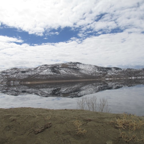 blue mesa reflection
